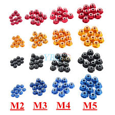 10Pcs M2 M3 M4 M5 Nylon Insert Self-Lock Aluminum Nuts Hex Lock Nut 4 Colors New