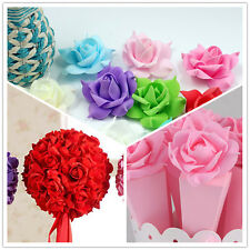 10pcs Multi-Color Foam Head Artificial Rose Flowers Handmade Wedding Home Decor
