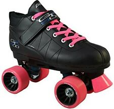 NEW! Pacer Mach-5 GTX500 Pink Quad Speed Roller Skates + 2 Pair Laces Pink & Blk