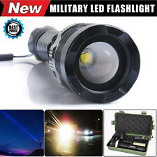 6000 Lumens CREE XM-L T6 LED Adjustable Focus Military Flashlight Zoomable Torch