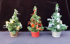 22cm Desktop Christmas Tree Table Counter Office Work Home Decorated xmas red