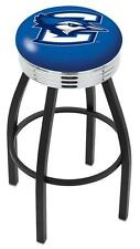 Creighton Bluejays Chrome Ribbed Bar Stool Barstool