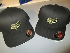 Fox Racing MX Headwear Legacy Flex Fit Hat Black Yellow Cap 58225 New Ball Cap