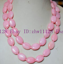 New Natural Beautiful 13x18mm Pink Rhodochrosite Gemstone Oval Necklace 18-100''