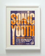 SONIC YOUTH TOUR CONCERT ART PRINT POSTER UNFRAMED HQ 300GSM MATTE