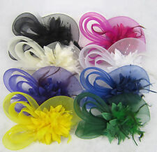 Hair band Flower Feather Hairpin Clip Hair Accessories Women Fascinator
