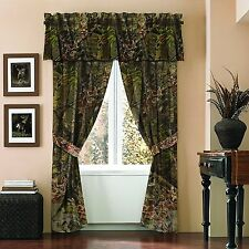 Realtree Camo Curtain & Valance 5 Piece Drape Set Window  New Free Shipping