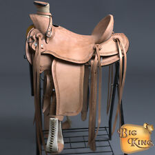 HILASON BIG KING SERIES WESTERN WADE RANCH ROPING COWBOY TRAIL SADDLE 15 16 17
