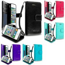 Apple iPhone 4/4S Premium Wallet Pouch Case With Credit Card ID & Money Slots