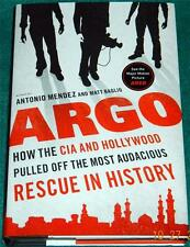 "ANTONIO MENDEZ, Argo: How the CIA and Hollywood Pulled Off ..."" HB/DJ"