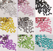 1000pcs 2mm Faceted Crystal Rhinestone Half Round Flatback Beads Jewelry Finding