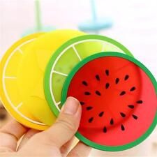 Cute Silicone Placemat Fruit Coasters Cushion Mug Cup Holder Tea Cup Pad Mat Pad