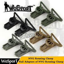 Tactical Goggle DIY Swivel Clips NVG Rotating Clamp Adapter for Fast Helmet Rail