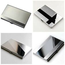 New Stainless Steel Silver Aluminium Business ID Name Credit Card Holder Box