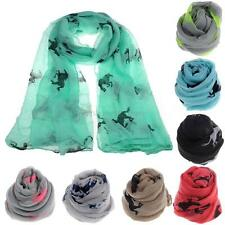 Fashion Women Running Horse Print Scarf Shawl Warm Wrap Stole Voile Gift M33