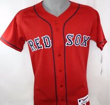 NEW Mens MAJESTIC Cool Base Boston RED SOX Red MLB Stitched Baseball Jersey