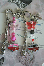 Kombi Van Bookmark / Komby Van Beaded Bookmark Book Mark Vintage Retro Bookmark