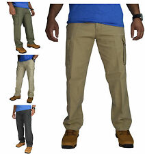 New Mens Cargo Combat Trousers Straight Leg Chino Cotton Pant Work Wear 6 Pocket