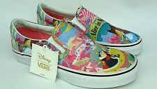 VANS CLASSIC SLIP-ON DISNEY ALICE IN WONDERLAND PINK/MULTI KIDS GIRLS YOUTH SIZE
