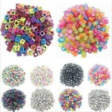 100PCS Letter Beads Loose Random Alphabet Jewelry DIY Spacer Acrylic Cube Making
