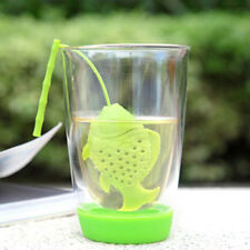 Best Silicone Fish Loose Tea Leaf Strainer Herbal Spice Infuser Filter Diffuser