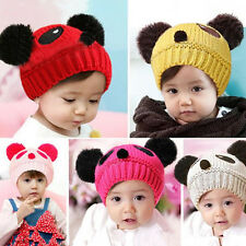 Beanie Hat Crochet Panda Wool Cap Baby Love New Girls Boys knit 1 pcs Cute Hot