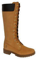 Timberland Womens Nubuck Leather 14 inch Knee High Boots Wheat 8633A Opp D1