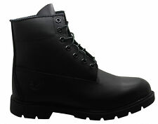 Timberland 6 Inch Basic Mens Boots Black Leather Casual Lace Up Winter 10069 D18