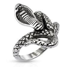 stainless steel Ring silver 22,5mm wide Looped Snake 50 (16) ? 61 (19,5)