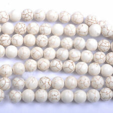 Hot Howlite White Turquoise Gemstone Round Loose Beads 6/8/10/12/14mm