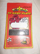 Mr Greedy Best Friend 3D Name Plate - 1977 Tip Top Toys Mr Men Red