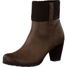 Marco Tozzi Ladies Heeled Boots. Knitted Fold-Over Tops