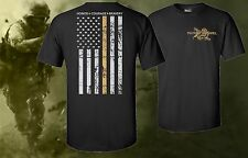 Thin ACU Tan Line Military Support T-shirt Armed Forces Shirt United States USA