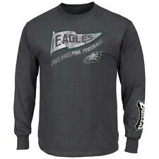 Vintage Heathered Long Sleeve Philadelphia Eagles T-Shirt