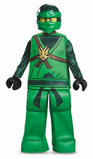 Prestige Lloyd Green Ninjago Lego Boys Child Costume NEW Masters of Spinjitzu