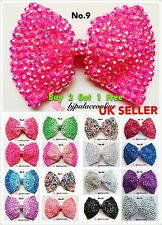 """""""Buy 2 Get 1 Free"""" Brand New Large Crystal Diamante Bow Hair Clip"""