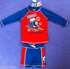 Thomas Tank Engine - Rash Top Vest Swim Shorts - Bathers Set- Size - UPF 50+
