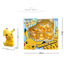 6pcs/lot Pocket Monsters cute Pikachu Mini Action Figure PVC 4cm Toy Chinese