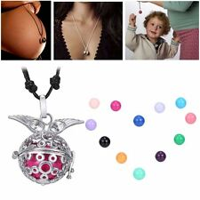 Angel Wing Locket Pendant Pregnancy Necklace Harmony Bell Ball Bead for Choose