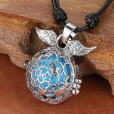 Hollow Star Wing Locket Necklace Angel sound bell Women Pendant pregnant Chain