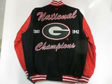 Georgia Bulldogs Mens L -2XL 2 Time National Champions Wool Leather Jacket UGR 1