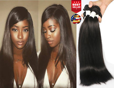 Brazilian 10A Unprocessed Human Virgin Remy Hair Weft Bundle 100g Silky Straight