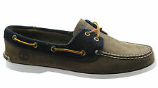 Timberland Earthkeepers 2 Eye Mens Boat Shoes Brown Navy Blue Lace Up 6962A D52