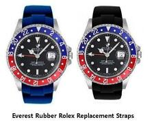 GMT-MASTER 1 2 RUBBER REPLACEMENT WATCH BAND SWISS MADE EVEREST BLUE/ BLACK 40mm