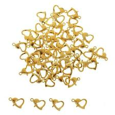 50PCS Gold Plated Claw Clasps Stainless Steel Jewellery Findings DIY Craft