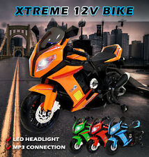Childs Kids 12V Ride on Bike Motorbike Electric Battery Motorcycle Car 5 Colours