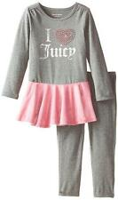 Juicy Couture Toddler Girls Gray Tunic 2pc Legging Set Size 2T 3T 4T $54.50