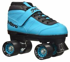 Brand New for 2016!  Epic Nitro Turbo Blue Quad Roller Speed Skates & 2 pr Laces