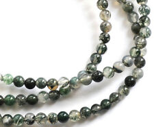 beautiful Green Moss Agate Round Beads 15.5in. Strand 3mm-12mm pick yours