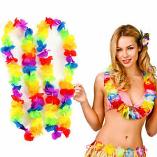 12PC Leis Flower Garlands Hawaiian/Tropical Party Hen Night Fancy Dress Necklace